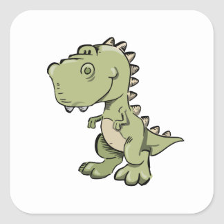 T-Rex Square Sticker