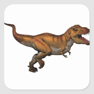 t rex square sticker