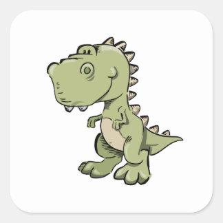 T-Rex Square Sticker