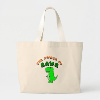 T-Rex The Power Of RAWR Large Tote Bag