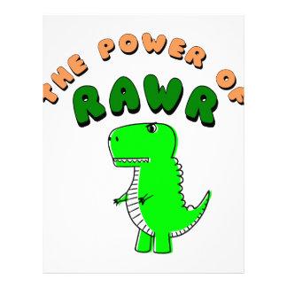 T-Rex The Power Of RAWR Letterhead