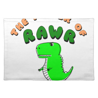 T-Rex The Power Of RAWR Placemat