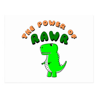T-Rex The Power Of RAWR Postcard