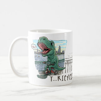 T Rex Tricycle Coffee Mug
