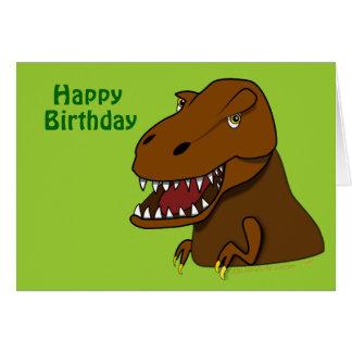 T-Rex Tyrannosaurus Rex  Dinosaur Birthday Card