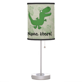 T-Rex Tyrannosaurus Rex Dinosaur Cartoon Kids Boys Desk Lamps