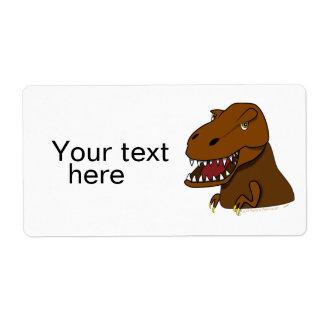 T-Rex Tyrannosaurus Rex Scary Cartoon Dinosaur Custom Shipping Label