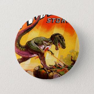 T-Rex vs. Sherman Tank 2 Inch Round Button