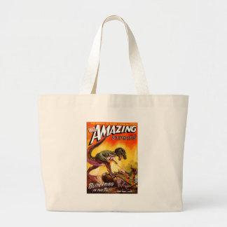 T-Rex vs. Sherman Tank Large Tote Bag