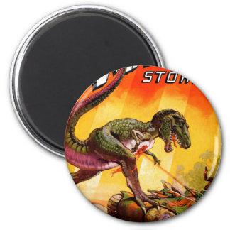 T-Rex vs. Sherman Tank Magnet