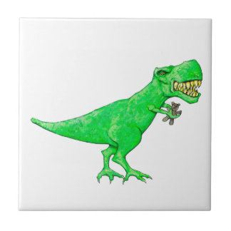 T-Rex with Teddy Bear Tiles