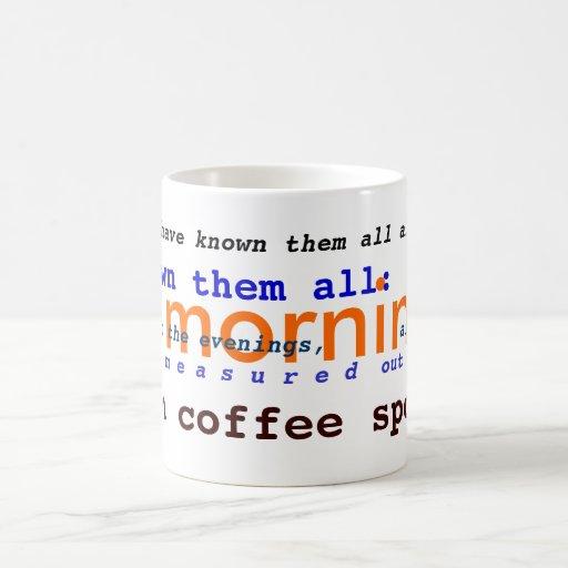 T.S. Eliot public domain Prufrock poetry Coffee Mug