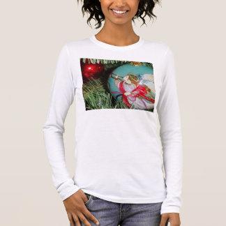 T-shirt À Manches Longues Ange de Noël - art de Noël - décorations d'ange