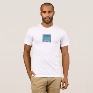 T-shirt, abstract, slate, blue, turquoise, pink T-Shirt
