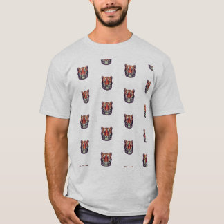 T-shirt abstrait de tigre