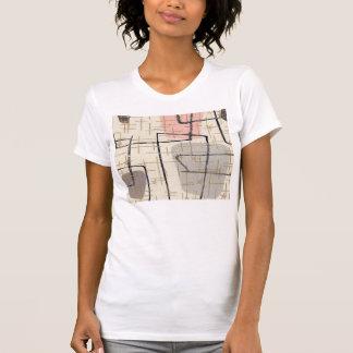 T-shirt abstrait moderne de la moitié du siècle