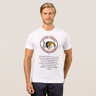 T-SHIRT AGAINST ANIMAL EXPERIMENTS