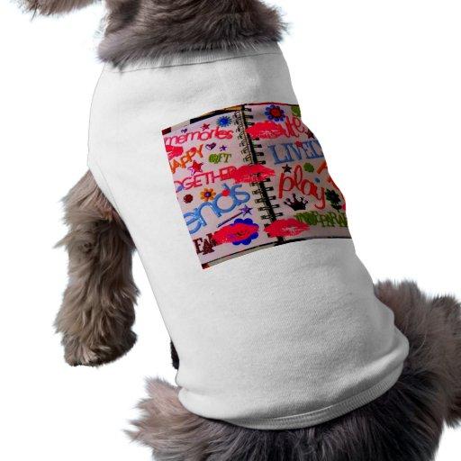 T-shirt ANIMÉ d'animal familier de BAISERS T-shirts Pour Animaux Domestiques