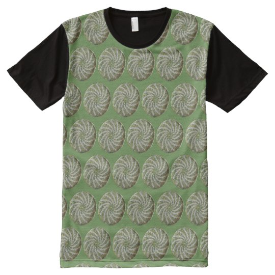 T-Shirt (ao) - Crochet Sprials in Green and White