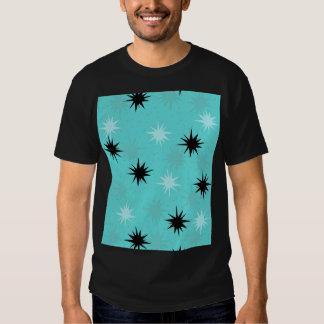 T-shirt atomique de Starbursts de turquoise