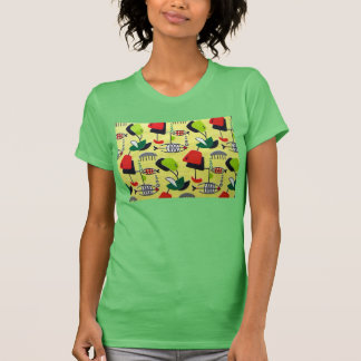 T-shirt atomique moderne de poissons de la moitié