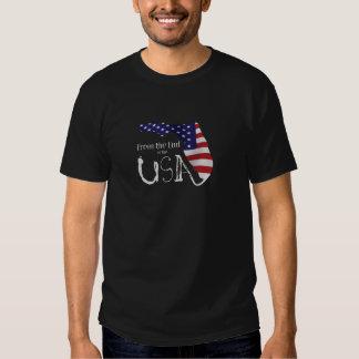 T-shirt avec de la fin du logo des Etats-Unis