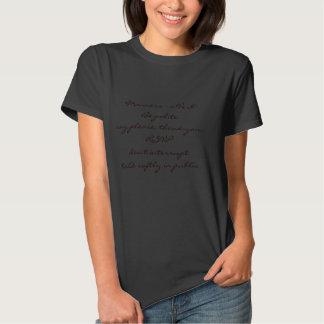 T-shirt avec le message