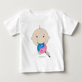 T-shirt - baby with yin yang lollipop