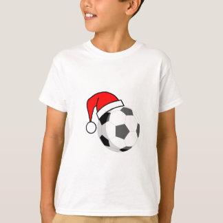 T-shirt Ballon de football (casquette de Père Noël)
