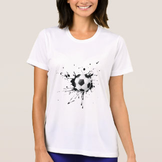 T-shirt Ballon de football dans le mouvement