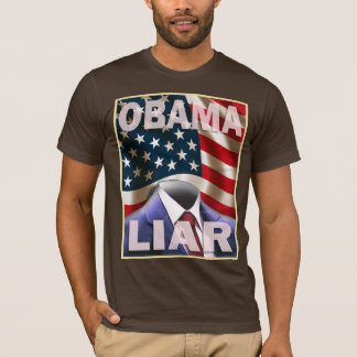 T-shirt Barack Obama - suite vide des mensonges