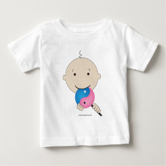 T-shirt - bébé avec la lucette de yang de yin