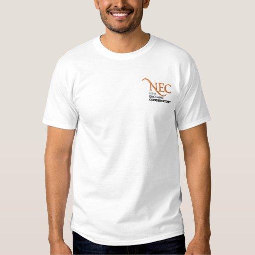 T-shirt blanc brodé par NEC (mâle)