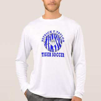 T-shirt Blanc de douille de ballon de football de visage