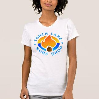 T-shirt blanc de logo de l'alt des femmes