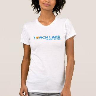 T-shirt blanc du logo des femmes