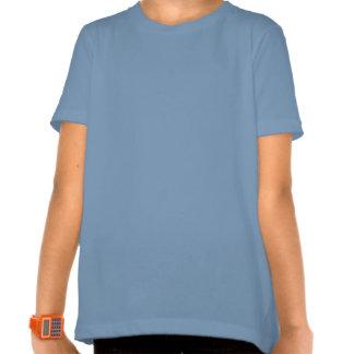 T-shirt bleu de dragon de glace