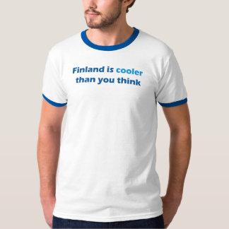 T-shirt bleu d'équilibre de la Finlande de