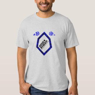 T-shirt bleu/noir d'OSCILLATEUR d'équilibre