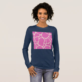 T-Shirt blue with pink pattern