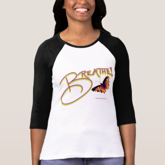t-shirt,breathe,butterfly,black and white, T-Shirt