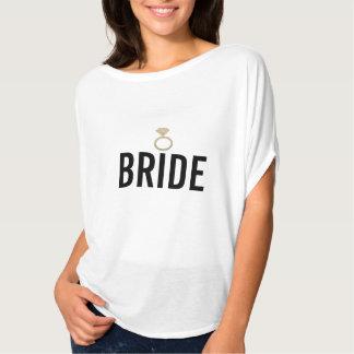 T-Shirt - Bride's Ring (Bling) W Gold
