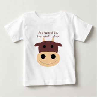 T-shirt brun mignon de nourrisson de vache