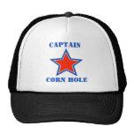 T shirt captain corn hole trucker hats