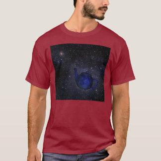 T-shirt céleste célèbre de la théière de Bertrand