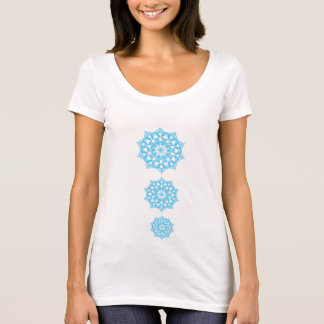 T-Shirt Chakras Bleu melts clearly psychedelic