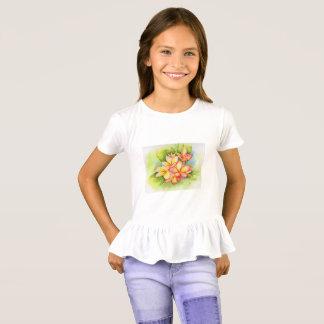 T-shirt Chemise de plumeria de filles de Malorie Arisumi