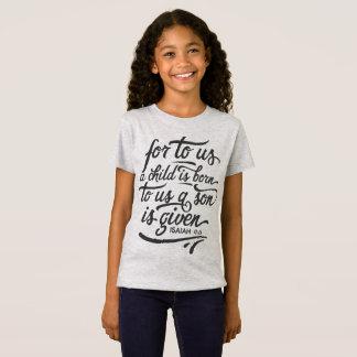 T-Shirt Chemise inspirée du vers   Jersey de bible de Noël