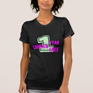 T-shirt Chemise libre de célébration de Cancer de 1 an