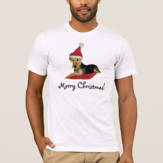 "T-shirt Christmas ""Airedale Terrier """